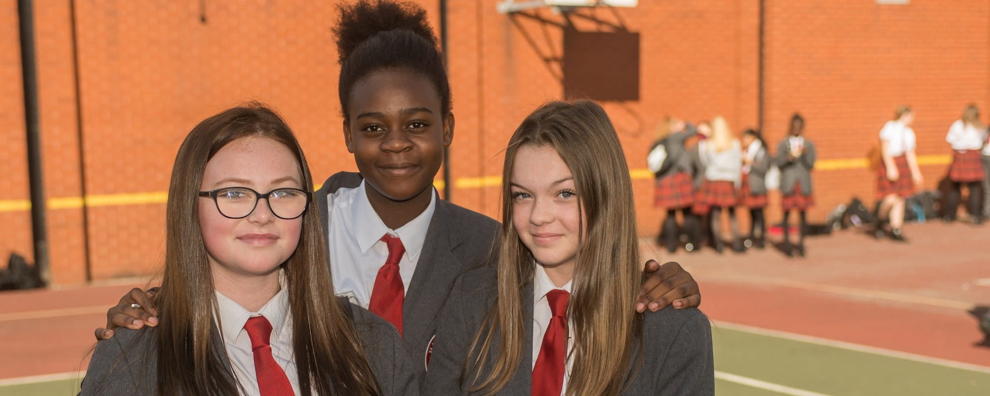 Hazel wood High School pupils working in front of periodic table